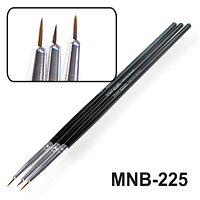 MNB-225 Набор кисточек для ногтевого дизайна из 3х инструментов