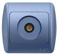 Розетка ABB El-bi ZIRVE ТВ для внутреннего монтажа, синяя Турция