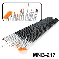 MNB-217 Набор кисточек для ногтевого дизайна из 10 инструментов