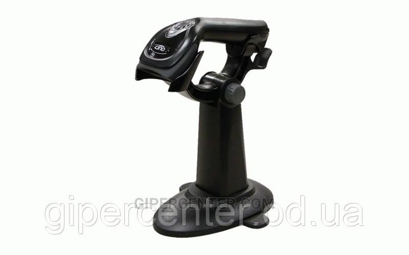 Ручной сканер штрих кодов Cino F560 черный (RS-232) и подставка Hands-Free Smart Stand