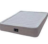 Ортопедическая надувная флокированная кровать Intex 67770 203 х 152 х 32 см