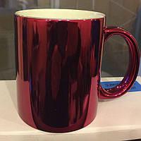 Зеркальная чашка для сублимации Красная
