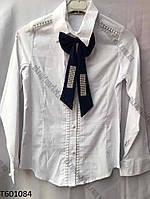 """Блузка школьная на девочку с бантом(5-9 лет) """"Ahmad-1"""" купить оптом со склада на 7км LM-5546"""