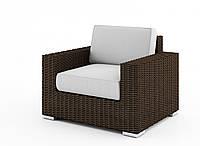 Садовое кресло Milano Royal из искусственного ротанга коричневое