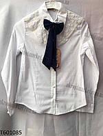 """Блузка школьная на девочку с бантом (10-14 лет) """"Ahmad-1"""" купить оптом со склада на 7км LM-5546"""