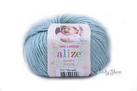 Турецкая пряжа Alize Baby Wool полушерсть мята №114