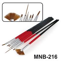 MNB-216 Набор кисточек для ногтевого дизайна из 7 инструментов