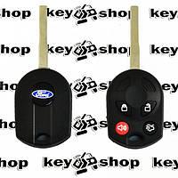 Ключдля Ford (Форд), 4 кнопки,с чипом 4d63(40/80bit) / (315/433 mhz), с лезвием HU101