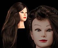 Учебный манекен 30% натуральных волос, длина 75 см, цвет коричневый
