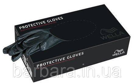 Перчатки одноразовые Wella Protective Gloves Black-100 шт.