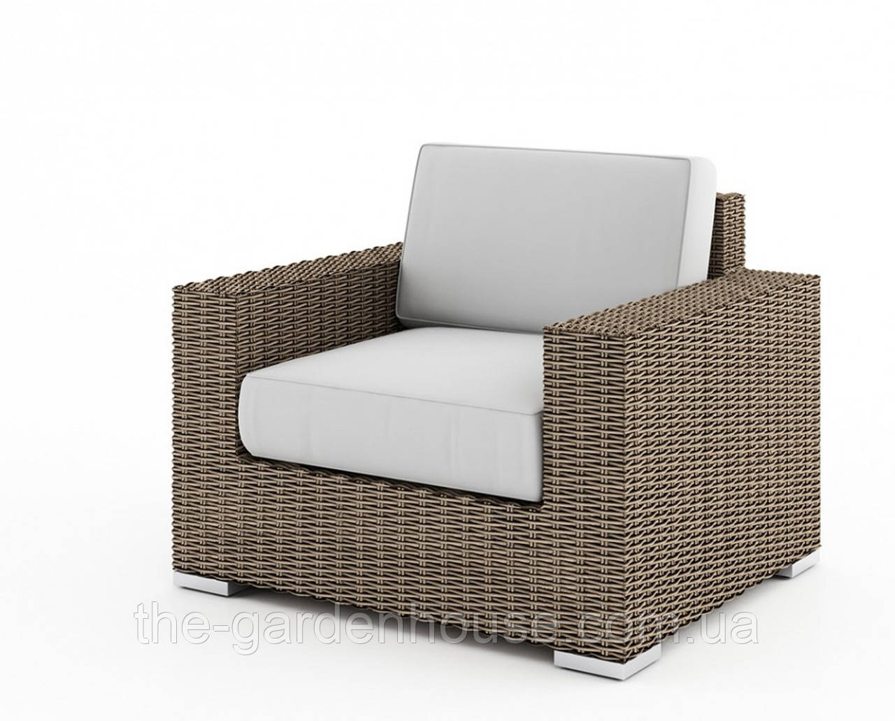 Садовое кресло Milano Royal из искусственного ротанга бежевое