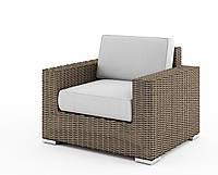 Садовое кресло Milano Royal из искусственного ротанга бежевое, фото 1