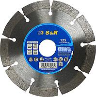 Алмазный сегментный круг S&R Segment 125x22,2 (арм. бетон)