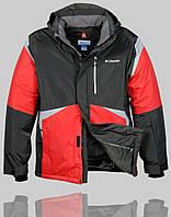 Мужская зимняя куртка Columbia 4228 Тёмно-серый