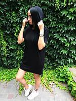 Платье-футболка D1892 черное