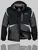 Мужская зимняя куртка Columbia 4229 Чёрная
