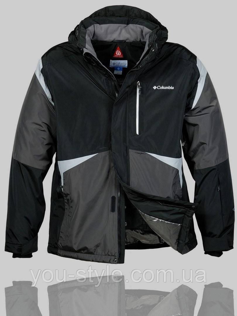 b5bdbca8dda6 Мужская зимняя куртка Columbia 4229 Чёрная - Интернет магазин