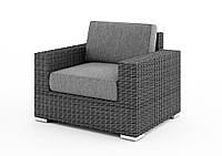 Садове крісло Milano Royal з штучного ротанга сіре, фото 1