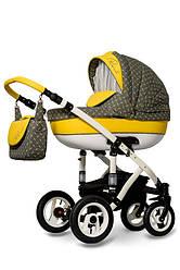 Детская коляска универсальная 2 в 1 Ammi Ajax Group Pearl Maize