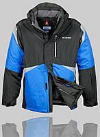 Мужская зимняя куртка Columbia 4230 Тёмно-серая