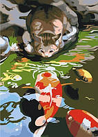 Картина по номерам Карпы и Котик КНО2437