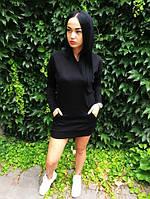Платье-футболка D1893 черное