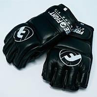 Перчатки MMA Free-Fight c защитой пальца черные 4 унции