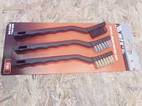 Набор щеток MATRIX, 3 шт., металлические с пластмассовой ручкой, малые MTX