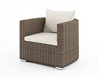 Садовое кресло Venezia Royal из искусственного ротанга бежевое, фото 1