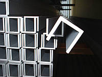 Алюминиевый швеллер отбортованный 30x16x2