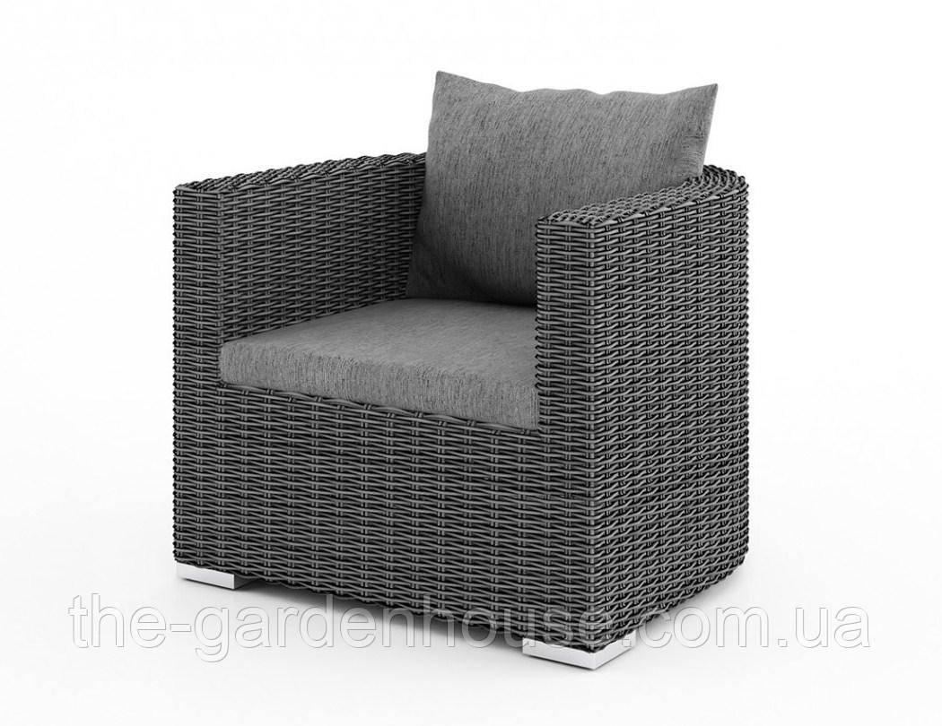 Садовое кресло VeneziaRoyal из искусственного ротанга серое