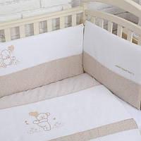"""Комплект в кроватку 6 ед.""""Sweet Bear""""/""""Сладкий мишка"""" (розовый, голубой, бежевый), фото 1"""