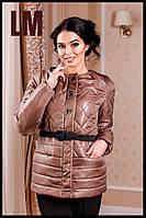 """Женская красивая куртка """"Леди"""" 44-54 батал осенняя весенняя короткая демисезонная на молнии с капюшоном"""