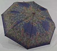 Легкий Классический женский зонт от дождя полуавтомат анти-ветер