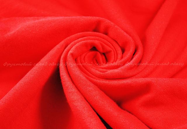 Красная детская мягкая футболка для девочек
