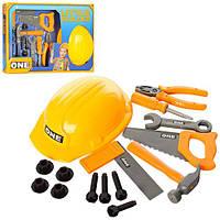 Набор инструментов 515-6 (36шт) каска,пила,молоток,отвертка,ключ,плоскогубцы,в кор-ке,46,5-31-4см