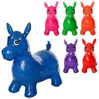 Прыгуны-лошадки MS 0967 (12шт) ПВХ, 1300г, блеск, 6цветов, в кульке, 32-24-10см