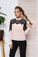 Стильная нарядная блуза пудра