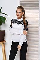 Стильная нарядная белая блуза