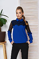 Праздничная нарядная блуза электрик