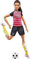 Кукла Барби футболистка Barbie Made to Move Soccer Player Мулатка