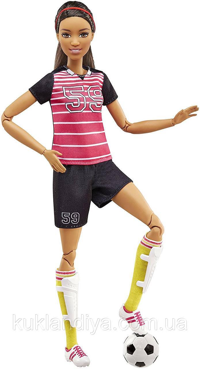 Кукла Барби футболистка брюнетка - Made to Move Soccer Player