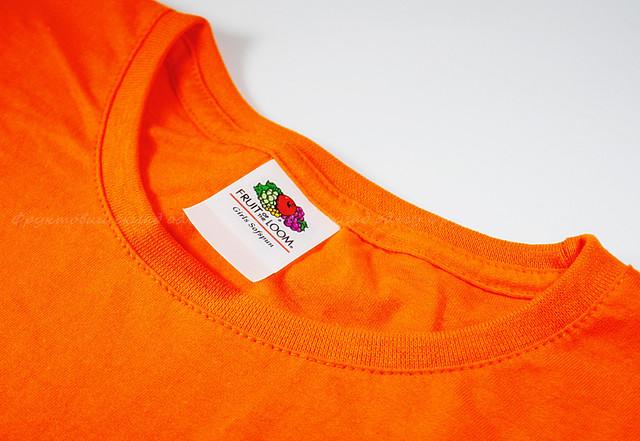 Оранжевая детская мягкая футболка для девочек