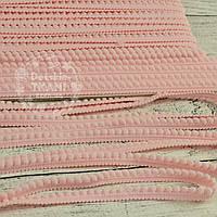 Тесьма с мини-помпонами 5 мм розового цвета (Польша)