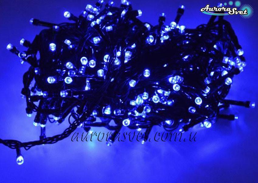 LED гирлянда от AuroraSvet blue 3м (полупроф., мегающие, flash). Светодиодная гирлянда. Гирлянда LED.