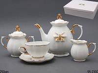 """Фарфоровый чайный сервиз на 6 персон """"Принцесса"""" Lefard 55-2300"""