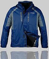 Мужская зимняя куртка Columbia 4231 Тёмно-синяя