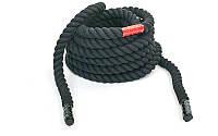 Канат для кроссфита Combat battle rope (хлопок, l-9 м, d-2,6 см), фото 1