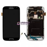 Дисплей Samsung i9500 Galaxy S4 с сенсором (тачскрином) и рамкой черный