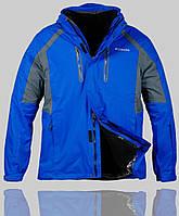 Мужская зимняя куртка Columbia 4232 Синяя